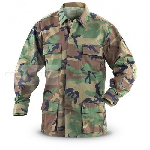 BDU Woodland Shirt surplus Medium Regular