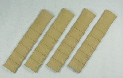 Bamboo rubber rail cover tan