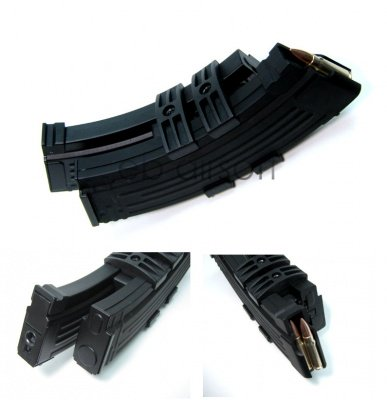 AK 1200 rds electricalfeed double magazine (Battery AAA )
