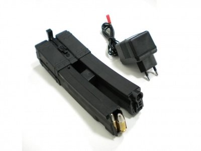 A.S.I. DOUBLE ELETRIC MAGAZINE FOR MP5 650 ROUNDS -