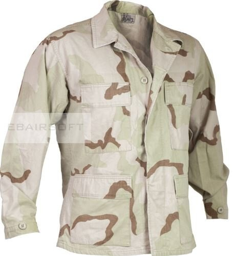 DCU 3 Color Bdu Shirt surplus Medium long