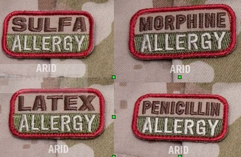 MSM allergy patches