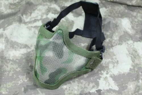 Metal Mesh Half Face Mask Camo