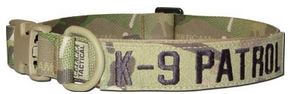 Mil-Spec K9 Dog Collar Nametape Multicam