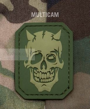 Military Morons devil skull pvc Colore: Multicam