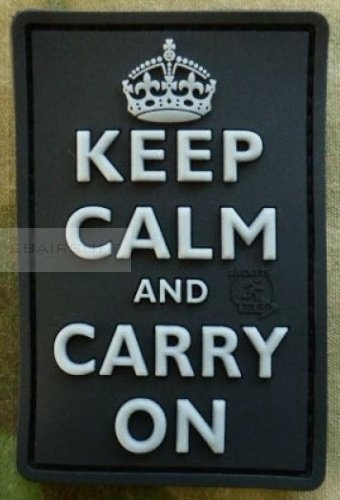 PVC Keep Calm and Carry on