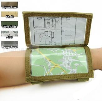 Pantac Wrist Map pouch BK/OD/TN/CB/MC