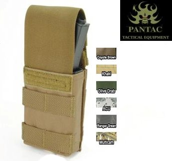 Pantac molle single mag pouch with PI OD/TN/CB/MC