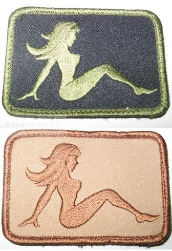 Patch mud flap girl subdued
