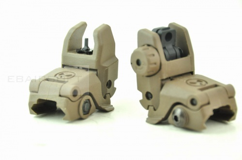 Polymer sight DE front and rear