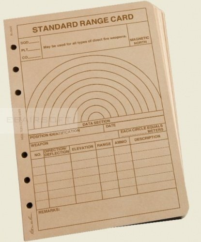 Rite in the Rain Standard Range Card Tan