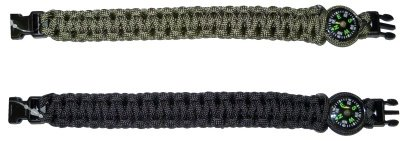 Survival Paracord Bracealet with compass