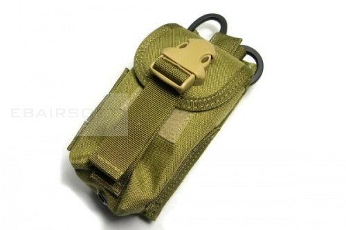 TMC Double mag pouch w Medical scissors holder ( khaki )
