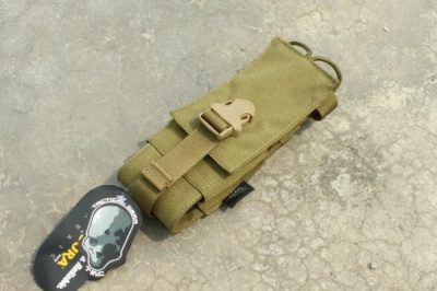 TMC MOLLE INTEGRATED BATTLE Radio Pouch ( Khaki )