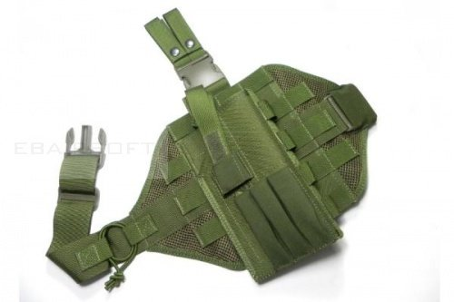 TMC MOLLE Tactical Dropleg Holster Complete Set ( OD )
