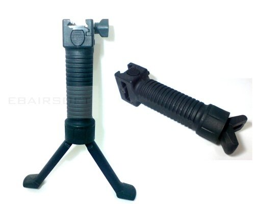 Tactical grip/bipod black