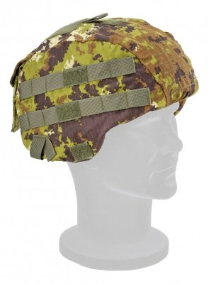 Tactical helmet cover vegetata
