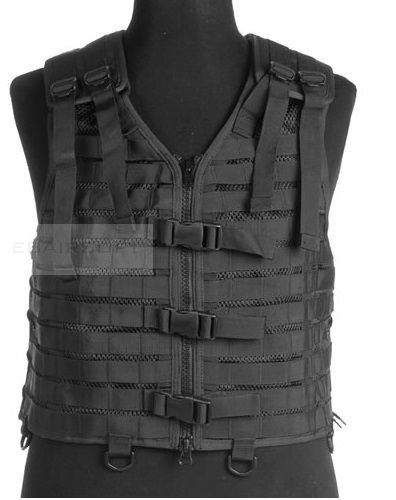 TACTICAL MODULAR VEST BLACK